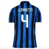 15-16 Inter Milan Home J.Zanetti #4 Soccer Jersey Shirt