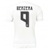 15-16 Real Madrid Home Benzema #9 Soccer Jersey Shirt