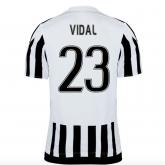 15-16 Juventus Home VIDAL #23 Soccer Jersey Shirt
