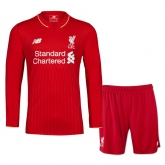 15-16 Liverpool Home Red Long Sleeve Soccer Jersey Kit(Shirt+Short)