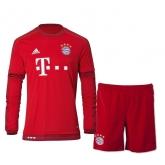 15-16 Bayern Munich Home Long Sleeve Jersey Kit(Shirt+Short)