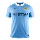 15-16 Manchester City Home Children's Kit(Shirt+Short)