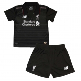 15-16 Liverpool Away Black Children's Jersey Kit(Shirt+Short)