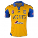 15-16 Tigres UANL Away Yellow Soccer Jersey Shirt