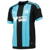 15-16 Marseille Away Black&Blue Soccer Jersey Shirt