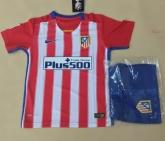 15-16 Atletico Madrid Home Children's Jersey Kit(Shirt+Short)