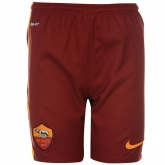 15-16 Roma Away Red Soccer Jersey Short