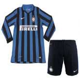 15-16 Inter Milan Home Long Sleeve Soccer Jersey Kit(Shirt+Short)