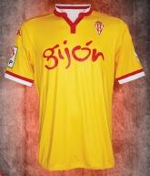 15-16 Sporting Gijón Away Yellow Soccer Jersey Shirt