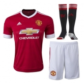 15-16 Manchester United Home Jersey Whole Kit(Shirt+Short+Sock)