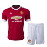 15-16 Manchester United Home Jersey Kit(Shirt+Short)