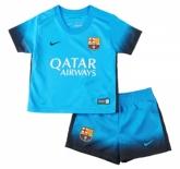 15-16 Barcelona Away Blue Champion League Children's Jersey Kit(Shirt+Short)