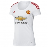 15-16 Manchester United Away White Women's Jersey Shirt