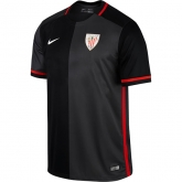 15-16 Athletic Bilbao Away Grey&Black Jersey Shirt