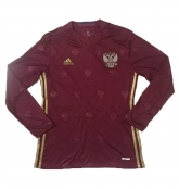 2016 Russia Home Red Long Sleeve Jersey Shirt