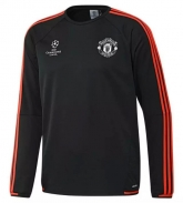 15-16 Manchester United Champion Leauge Black Sweater Top Shirt