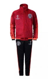 15-16 Manchester United Champion League Children Red Training Jacket + Trouser