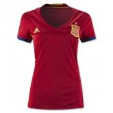 2016 Spain Home Red Women's Jersey Shirt