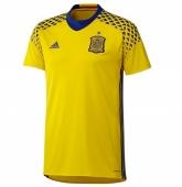 2016 Spain Goalkeeper Yellow Soccer Jersey Shirt