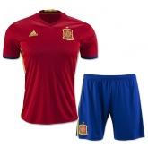 2016 Spain Home Soccer Jersey Kit(Shirt+Short)