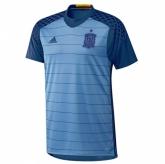 2016 Spain Goalkeeper Blue Soccer Jersey Shirt