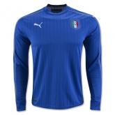 2016 Italy Home Blue Long Sleeve Soccer Jersey Shirt