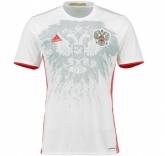 2016 Russia Away White Soccer Jersey Shirt