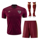 2016 Russia Home Red Jersey Whole Kit(Shirt+Short+Socks)