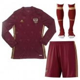 2016 Russia Home Red Long Sleeve Jersey Whole Kit(Shirt+Short+Socks)