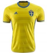 2016 Sweden Home Yellow Soccer Jersey Shirt