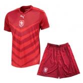 2016 Czech Republic Home Red Soccer Jersey Kit(Shirt+Short)