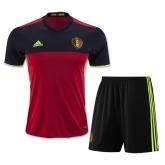 2016 Belgium Home Soccer Jersey Kit(Shirt+Short)