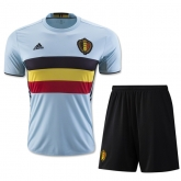 2016 Belgium Away Blue Soccer Jersey Kit(Shirt+Short)