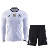 2016 Germany Home White Long Sleeve Jersey Kit(Shirt+Short)