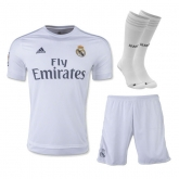 15-16 Real Madrid Home Children's Jersey Whole Kit(Shirt+Short+Sock)
