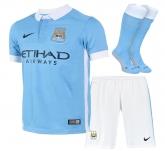 15-16 Manchester City Home Children's Whole Kit(Shirt+Short+Sock)