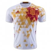 2016 Spain Away White Soccer Jersey Shirt