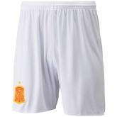 2016 Spain Away White Soccer Jersey Short