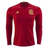 2016 Spain Home Long Sleeve Jersey Shirt