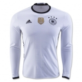 2016 Germany Home White Long Sleeve Jersey Shirt