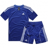 AD-503 Customize Team Blue Soccer Jersey Kit(Shirt+Short)