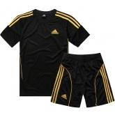 AD-503 Customize Team Black Soccer Jersey Kit(Shirt+Short)
