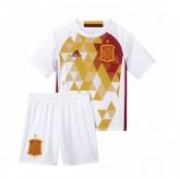 2016 Spain Away White Children's Jersey Kit(Shirt+Short)