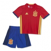 2016 Spain Home Red Children's Jersey Kit(Shirt+Short)