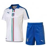2016 Italy Away White Children's Jersey Kit(Shirt+Short)