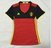 2016 Belgium Home Women's Soccer Jersey Shirt
