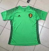 2016 Belgium Goalkeeper Green Jersey Shirt