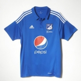 16-17 CD Los Millonarios Home Blue Soccer Jersey Shirt