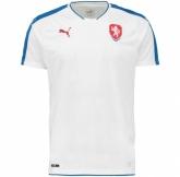 2016 Czech Republic Away White Soccer Jersey Shirt