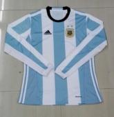 2016 Argentina Home Long Sleeve Soccer Jersey Shirt